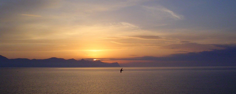 veduta al tramonto